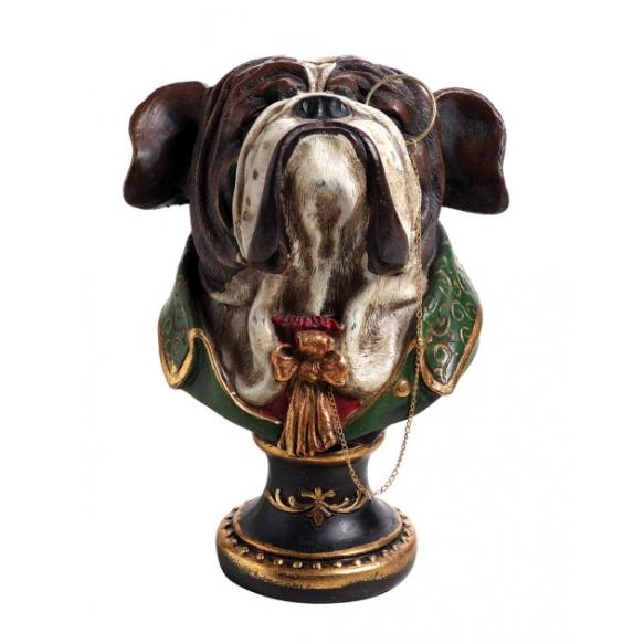 Dekoratiivne koera pea büst