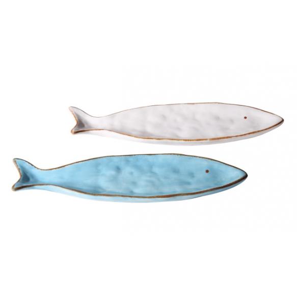 """16-1/ 4""""L Dolomite Fish Tray, 2 Colors"""