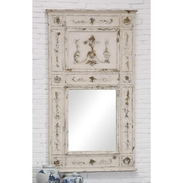"34-1/2""L x 61""H Wood Framed Mirror, (Finish Will Vary)"