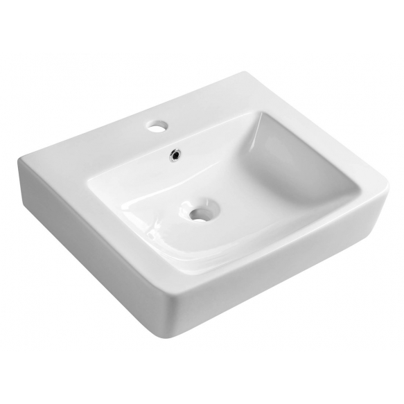 MODIS ceramic washbasin 55x45cm, wall mount