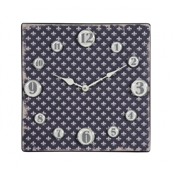 "13-3/8""Square Metal Clock w/Magnet Numbers ©"