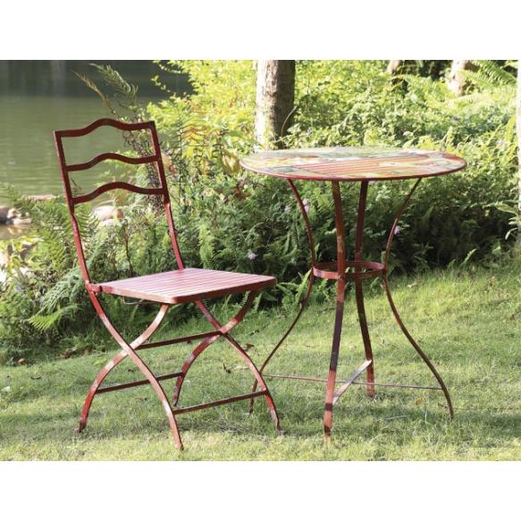 "24"" Round x 30""H Tin Garden Table"