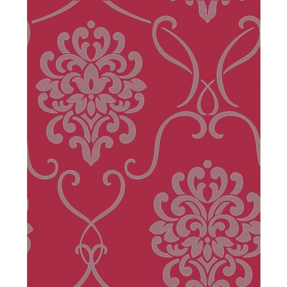 Accents Damask Red/Black