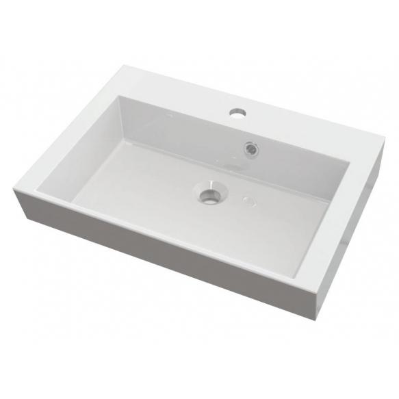 ORINOKO Cultured Marble Washbasin 60x15x45cm, white