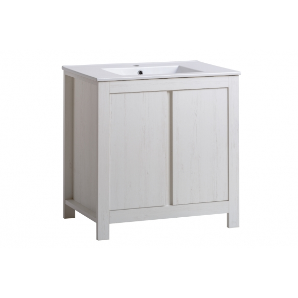 cabinet under washbasin Oak Andersen 80 cm (2D), basin not included