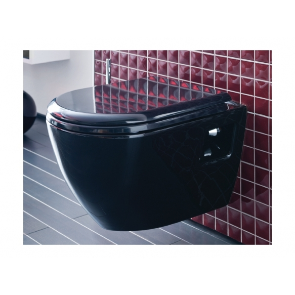 AMASRA SOFT CLOSING SEAT COVER WITH METAL HINGE BLACK