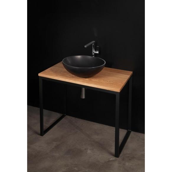 silkstone basin Round On, for worktop, graphite grey