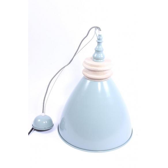 ceiling lamp Nordic, blue, wood+metal