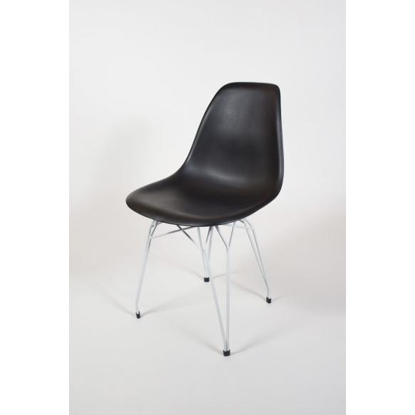 "chair Alexis, black, white metal ""Y"" feet"