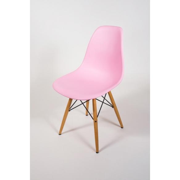 chair Alexis, pink, beech feet