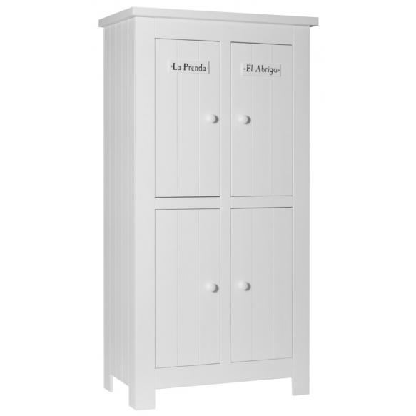 Barcelona - 4-door wardrobe, white