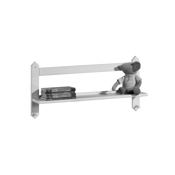 Shelf with hangers, white