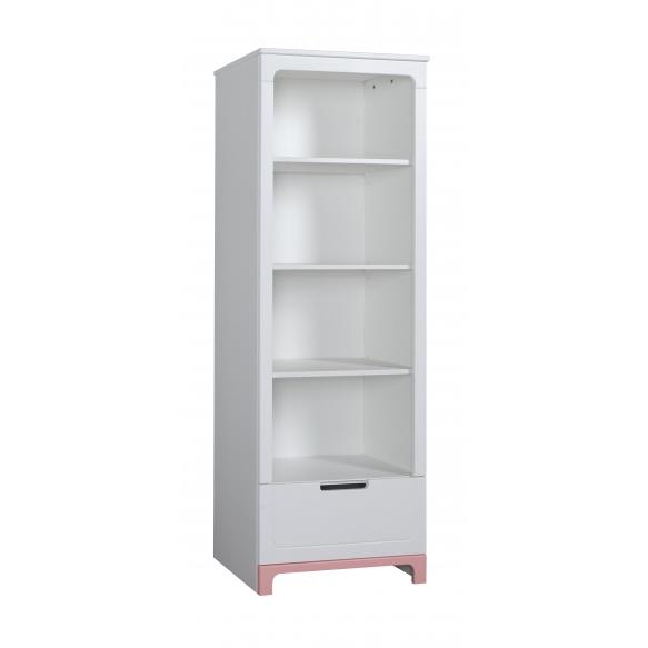 Mini – bookcase, white+pink