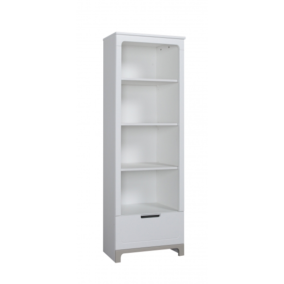 Mini – bookcase, white+grey