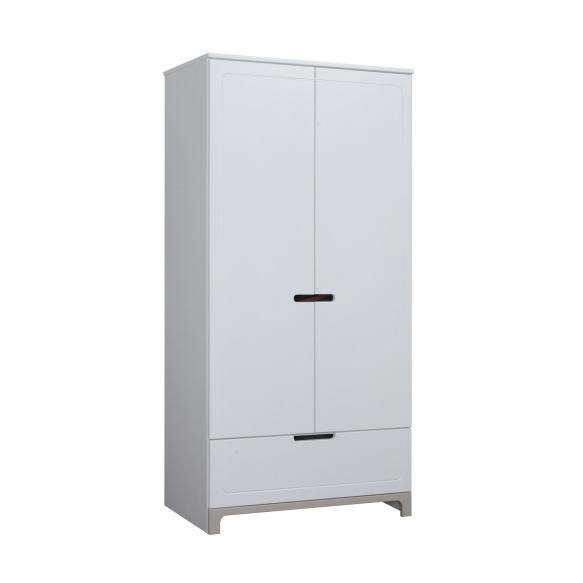 2 uksega riidekapp Mini, valge+hall