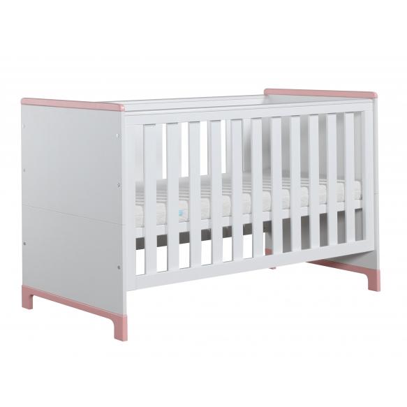 beebivoodi-voodi Mini, 140x70, valge+roosa