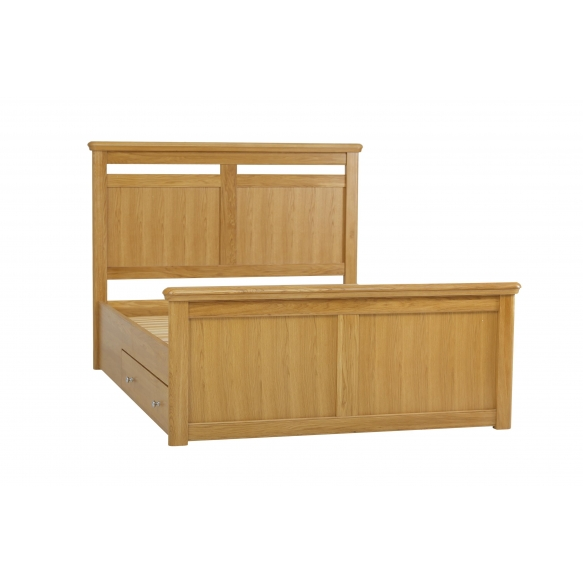 Double size solid bed with storage EU