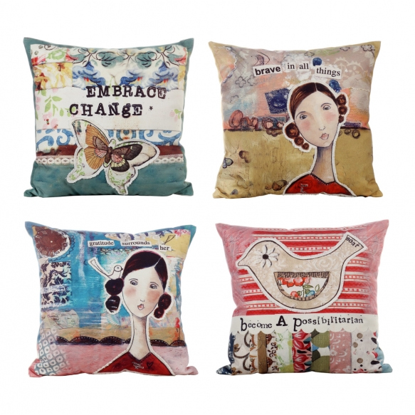 """15-3/4"""" Square Cover Pillow, 4 Styles ©"""