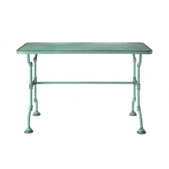 130x60x85cm metallist laud, antiiksinine