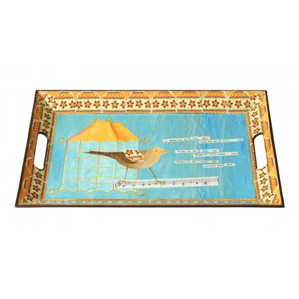 45x30 cm plastist kandik, linnumotiiviga