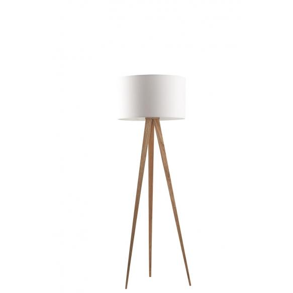 Floor Lamp Tripod Wood White