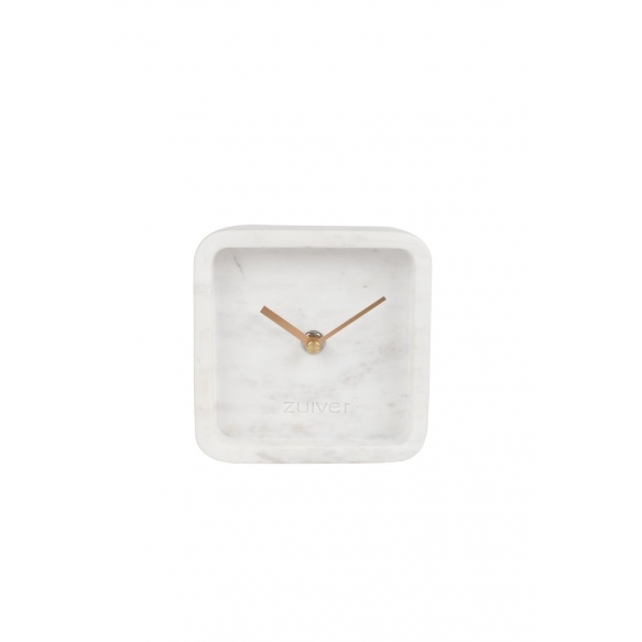 Clock Luxury Time Marble White