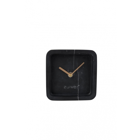 Clock Luxury Time Marble Black