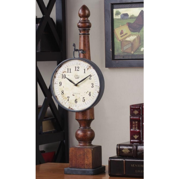 "25""H Metal Clock w/ Base"