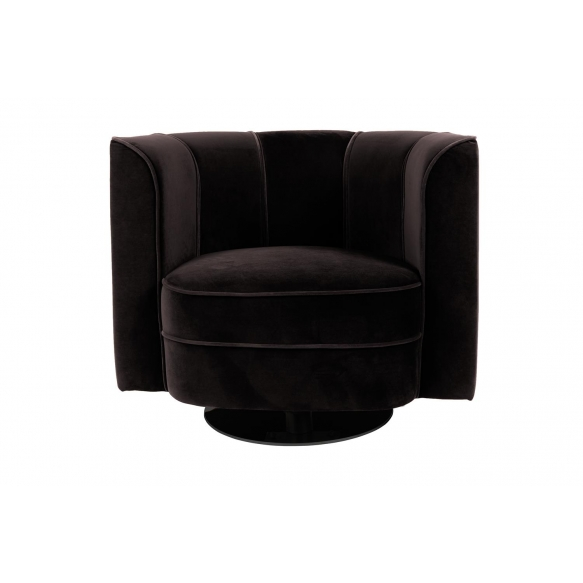 Lounge Chair Flower, black