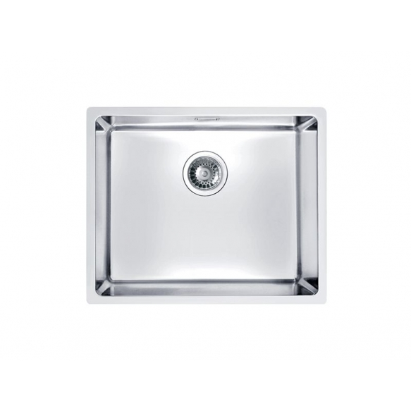 stainless steel undermount basin KOMBINO 50, 50x40x19.5 cm, waste 3 1/2´´, satin finish. Drain is not included