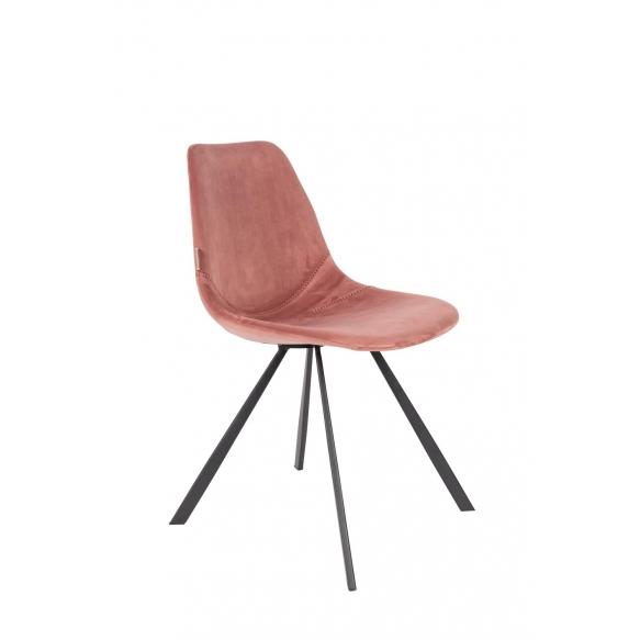 Chair Franky Velvet Old Pink