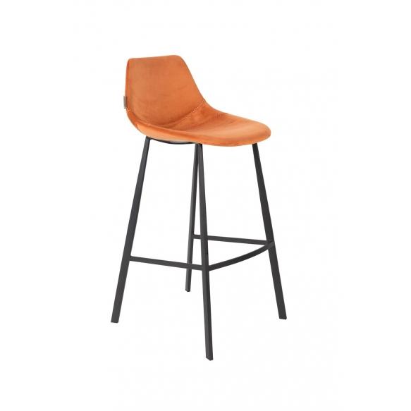 Barstool Franky Velvet Orange