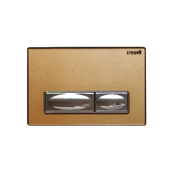 DESIGN FLUSH PLATE BRONZE METAL+GLASS