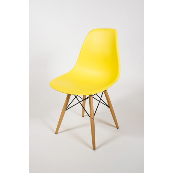 chair Alexis, yellow, beech feet