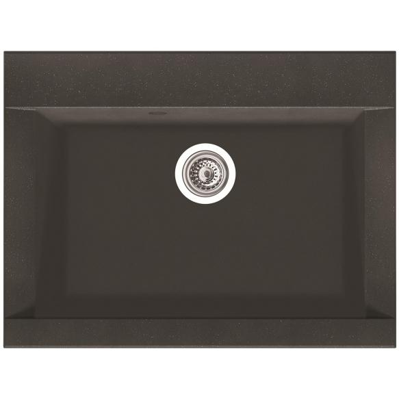 composite kitchen sink Zonda Carbon, siphon included