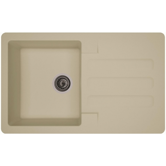 composite kitchen sink Marin Beige, siphon included
