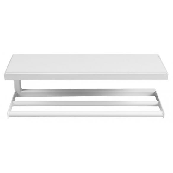SKA Wall Shelf, white mat, with white MDF Shelf