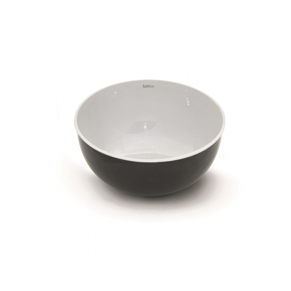 emailiga kaetud metallist valamu tööpinnale Mogro, valge+hall
