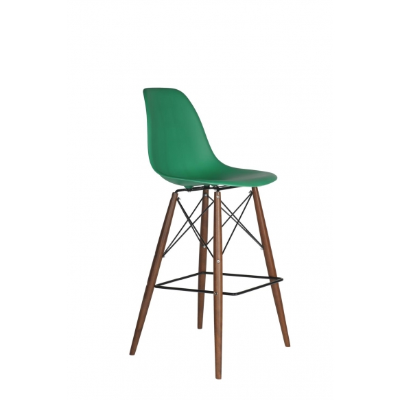 bar stool alexis green 12 dark brown feet deko