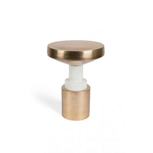 Chunky Footed Side Table Gold