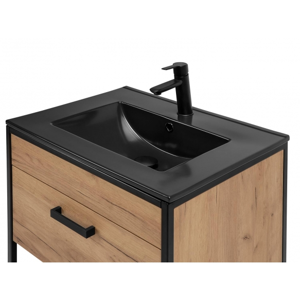 furniture basin 60 cm, black