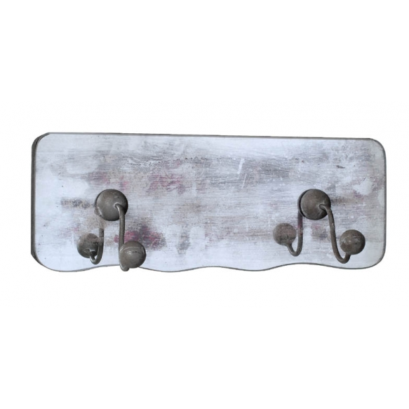 "11-5/8""L MDF Plaque Mirrored w/ Hook"