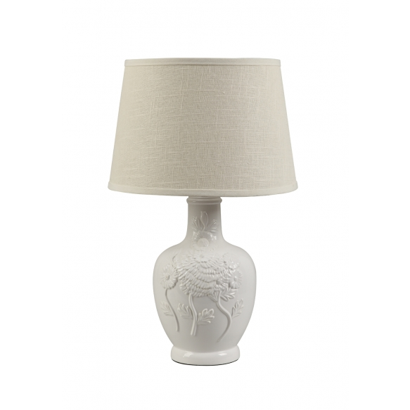 "12"" Round x 24""H Dolomite Table Lamp w/ Shade"