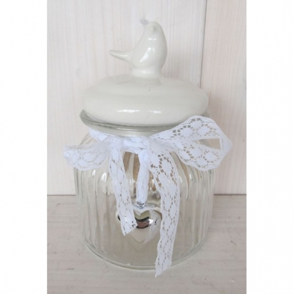 glass jar with ceramic lid