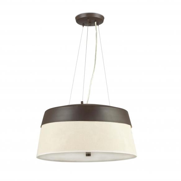 CEILING LAMP METAL+TEXTILE 3L E27 60W
