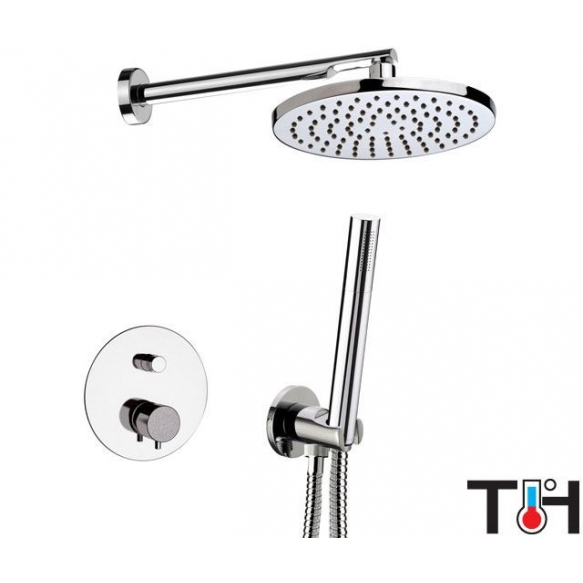 Concealed thermostatic rain shower set SUVI, kroom