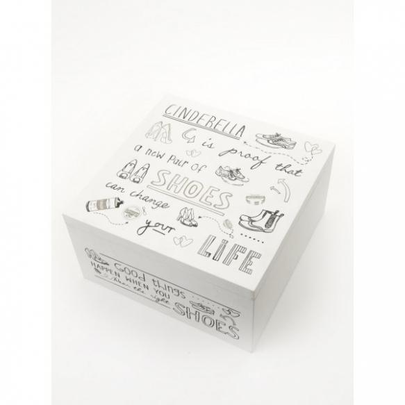 Deko Box wooden cinderella box @ deko