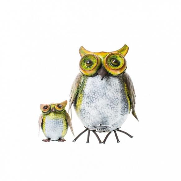 prügikast OWL+väike dekoratiivne öökull