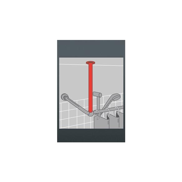 Dušikardinatoru lakke riputatav tugi, 56 cm, diam 28 mm, kroom