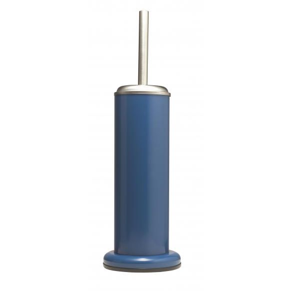 ACERO metal  toilet brush and holder, blue